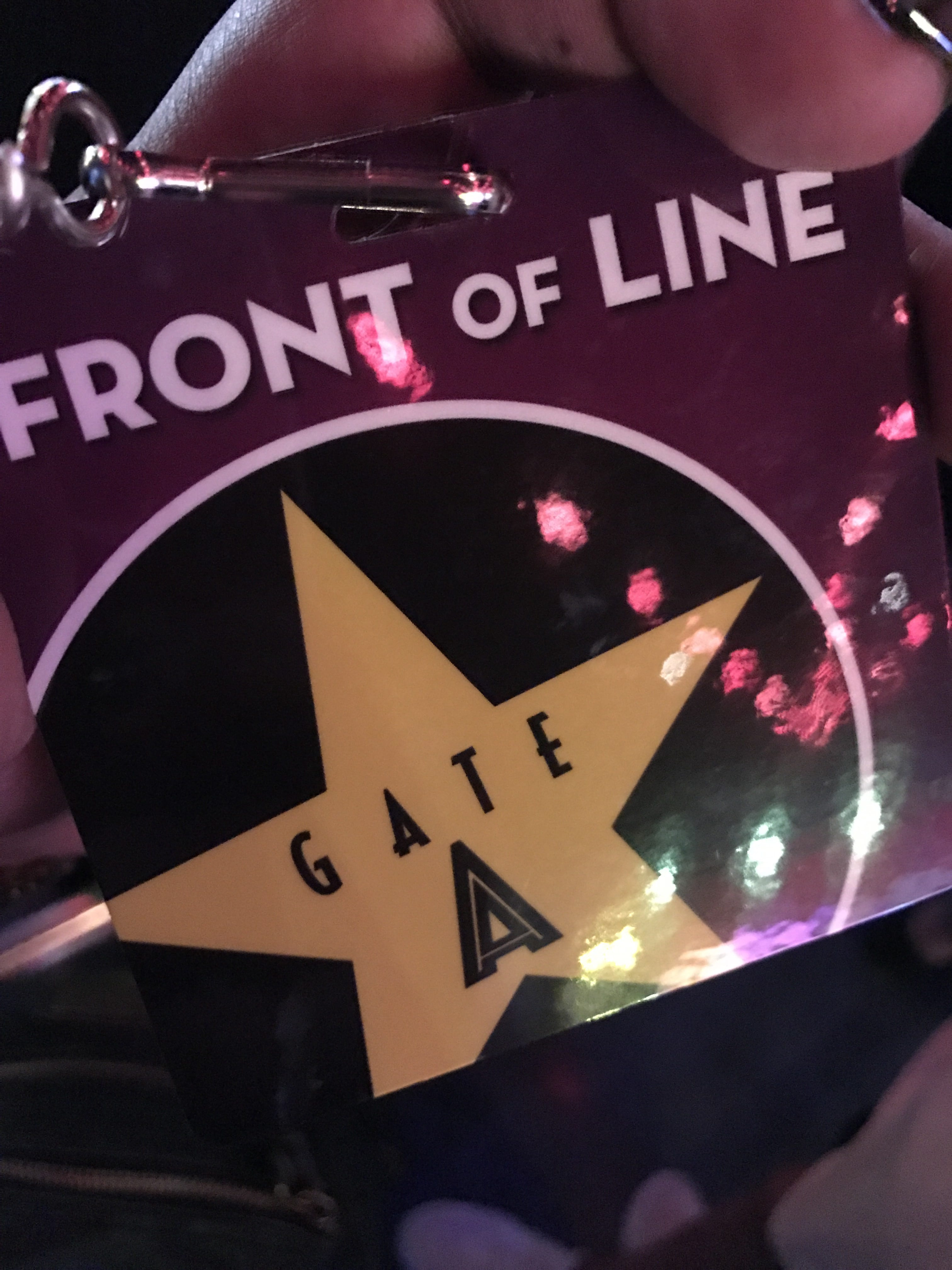 Front of the Line pass...